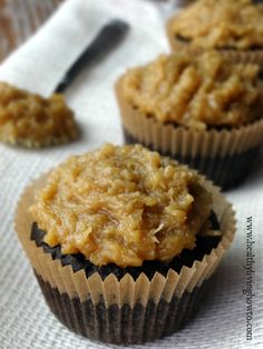German Chocolate Cupcakes ~ Healthy Living How To