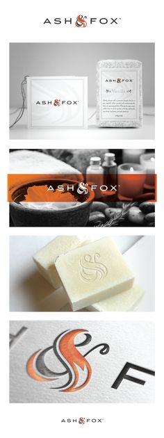 Ash & Fox logo and branding by Mogeek. Lovely soap #packaging #branding PD