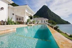architecture Residence Pool View Magnificent Retreat Exhibiting an Alluring Traditional Design in Saint Lucia