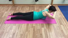 Thoracic and shoulder extension using soft ball and tubing From the: Corrective Exercise Pilates Specialist Curriculum - date Kyphosis Exercises, Back Extension Exercises, Hata Yoga, Back Extensions, Improve Posture, Pilates, Abs, Fitness, Columns