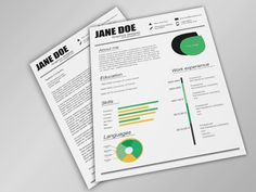 Fresh Resume/CV IA Package ( Free ) by Tina Helsinki, via Behance Best Free Resume Templates, Simple Resume Template, Infographic Resume Template, Free Infographic, Cv Design Template, Word Free, Resume Cv, Photoshop, Words