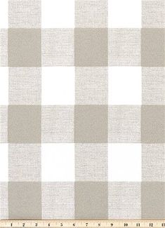 Outdoor Buffalo Check Linen - Tan and White Buffalo Check plaid fabric for outdoor  lifestyle decorating. Great for poolside, sunroom or patio cushions,  upholstery, pillows or table top.