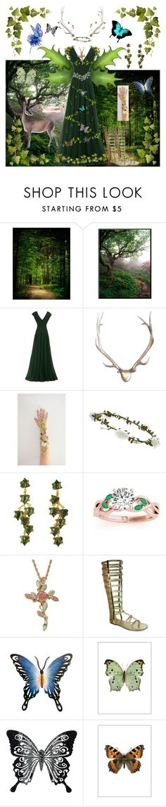 """Goddess Of the Forest"" by vampirekitty34 ❤ liked on Polyvore featuring Accessorize, Madina Visconti di Modrone, Allurez, Bumper, NOVICA, Liljebergs, MARBELLA and Amara"
