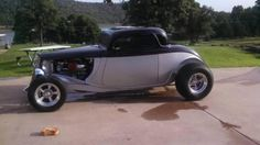 "1933 Ford Coupe for sale (OK)- $38,000 933 Ford Coupe for sale. Black and Silver paint with red pinstripe. Black and Silver leather interior. 350 sbc with aluminum heads. 700r4 transmission and 9"" Fo"