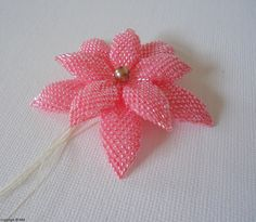 Jewelry beading tutorial - delica and seed beaded Double Flower - pdf file instructions. €15.00, via Etsy.