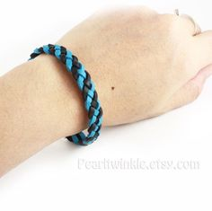Something new for the gorgeous and sporty!!! Crisp colored braided leather bracelet with magnetic clasp. For him. For her. Choose your color.