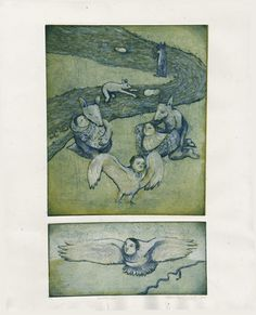 Erwartungen (Expectations) Etching by Gaelle Lalonde