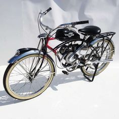 Way cool: 1950 Schwinn Motorized Whizzer Black Phantom Bicycle