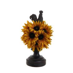 sunflower kitchen decor | Sunflower Topiary Kitchen Decor | For the Home