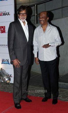 Rajinikanth With Amitabh at Kochadaiyaan Trailer Launch
