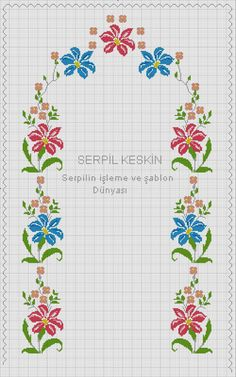 Cross Stitch Flowers, Allah, Floral, Cross Stitch Borders, Cross Stitch Baby, Towels, Kitchen, Napkins, Table Toppers