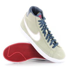 nike blazer mid vintage navy blue youths trainers academy