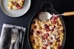 Bread Pudding with Raspberries