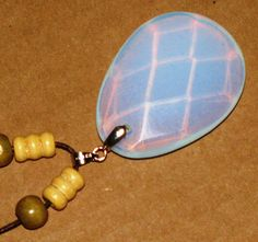 Wood Beaded Necklace with Sea Opal Pendant by ETNFamilyProducts, $30.00