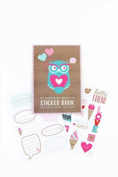 VALENTINES sticker book $6.95 - typo
