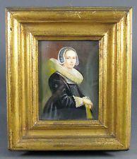 Vtg Austrian Flemish Archduchess Miniature Portrait Painting LISTED ARTIST ITALY Vintage Paintings, Antique Paint, Miniature, Portrait, Antiques, Frame, Decor, Art, Antiquities