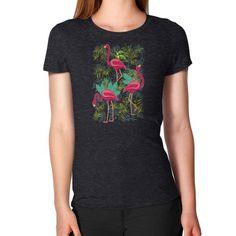 Pink Flamingos Exotic Birds Women's T-Shirt