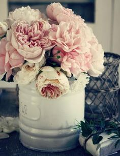 Fat Peonies. All time fav flower ( along w/ Hydrangeas, roses, woolly Thyme. ) Embodiment of romance ;)
