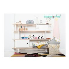 molly meg oeuf nyc mini library shelving system – white and birch