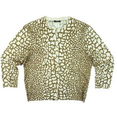 "JCrew Carmel Animal Print Cotton Cardigan Sweater Excellent condition! This caramel brown and eggshell Ivory animal print cardigan from JCrew features button closures and 3/4 length sleeves. made of 100% cotton. Measures: Bust: 36"", Total Length: 20"", Sleeves: 17.5"" marked a size M, but it does run a little small for a medium. It may be best for a small - so check your measurements. J. Crew Sweaters Cardigans"