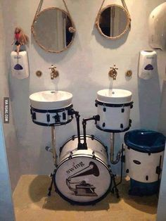 """Drums"" sink for the music studio in my dream home."