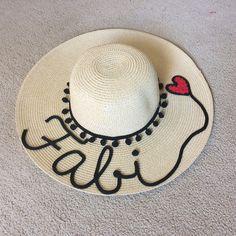 Chapéu personalizado com nome  chapeupersonalizado  personalizado  nome   hat Chapéus Bordados 407cf43eee2