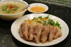 Vietnamese Duck Rice Soup and Salad-Cháo Vịt và Gỏi Vịt