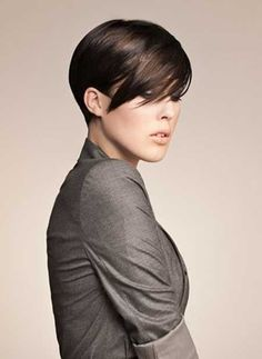 Short Straight Hairstyles 2013 - This is close to what I have now. I think I like it, but should I do this color?