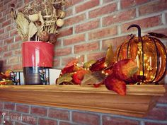 Thanksgiving Mantle {The Sideways House: A Late Thanksgiving Update.}