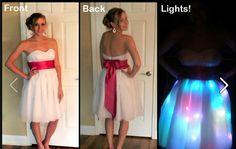 Dress made for Senior Prom with LED lights! - Imgur