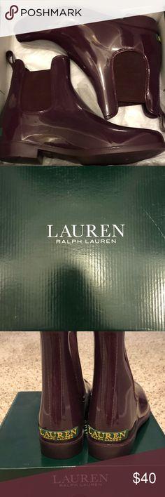 Ralph Lauren Rain boots!! Only worn once! Lauren Ralph Lauren Shoes Winter & Rain Boots