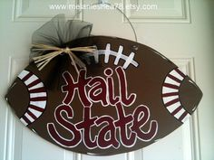 Wooden Football Door Hanger