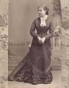 Emma Maria Sawyer White. Circa 1878