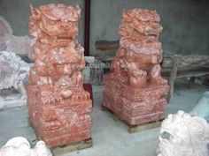 Fu Dog Statues | Dogs,Foodog,Jade foodogs, marble fu dog Carving,Temple Fu Lion statue ...