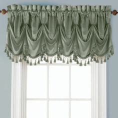 Royal Velvet® Hilton Rod-Pocket Tuck Valance, Bring graceful elegance to any room with the beautiful, high-luster crinkled fabric of our tuck valance. No Sew Curtains, Rod Pocket Curtains, Valance Curtains, Drapery, Curtain Panels, Window Coverings, Window Treatments, Window Cornices, Dresses