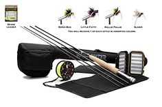 Buy Wild Water Fly Fishing Complete 5 Weight 7 Piece Pack Rod & Reel Starter Package at online store Best Fishing Rods, Fishing Rods And Reels, Sport Fishing, Fishing Tips, Fly Fishing Gifts, Fishing Store, Outdoor Store, Outdoor Fun, Topwater Lures