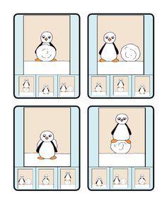 kwartet met begrippen - Google zoeken Penguins And Polar Bears, Printable Numbers, Antarctica, Kids Education, Craft Activities, Pre School, Kids Learning, Winter Wonderland, Illustration