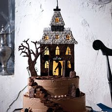 From : yummly.com  -  *  Haunted - House Cake  *  -