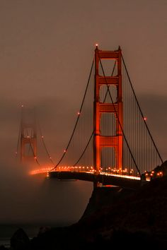 Fog in Golden Gate Bridge, San Francisco