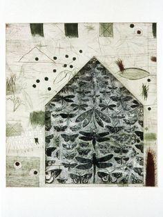 """ vas hermeticum by Margaret van Patten Intaglio etching """