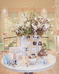 人気のゴールドフレーム!ミールヘーデンを使ってお洒落に飾ろう♡ Ikea Wedding, Wedding Table, Photo Garland, Wedding Venues, Happy Birthday, Wedding Inspiration, Table Decorations, Home Decor, Wedding Reception Venues
