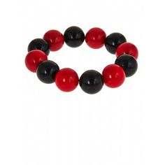 Fornash Two-Tone Candy Bracelet ($12) ❤ liked on Polyvore featuring jewelry, bracelets, red, black, accessories, jewelry bracelets, bead jewellery, two tone jewelry, two tone bangles and beaded bangles