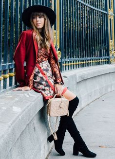 french girl outfit with red jacket