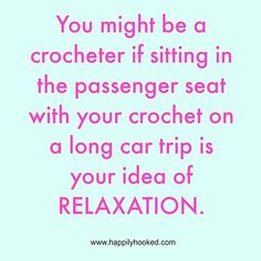 Where's my pink hook? I can't leave home without it. crochet-on-a-road-trip