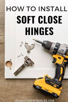 Installing soft close hinges in your kitchen cabinets is an easy DIY project! This tutorial will sho. Kitchen Cabinets Hinges, Update Kitchen Cabinets, Old Cabinets, Kitchen Upgrades, Kitchen Hardware, Kitchen Ideas, Kitchen Renovations, Kitchen Redo, Kitchen Inspiration