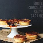 Molten Chocolate and Salted Caramel Tarts