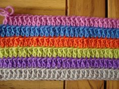 Trebles into back loop - use this stitch in one of my afghans