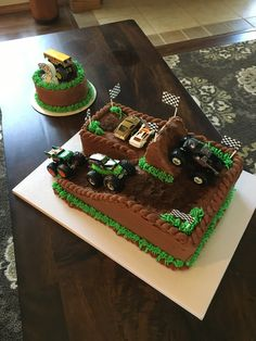 New Monster Truck Theme Party Cake Ideas 37 Ideas Soirée Monster Truck, Monster Jam Cake, Monster Truck Cupcakes, Monster Truck Birthday Cake, 3rd Birthday Cakes, Blaze Birthday Cake, Lego Birthday, Birthday Ideas, Cakes For Boys