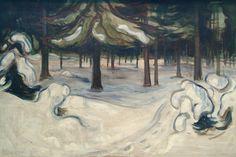 "malinconie: ""Edvard Munch, Winter, 1899 """