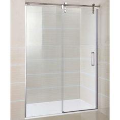 Mampara de ducha GME - MOVING ACERO INOXIDABLE- Frontal con un fijo y una puerta corredera - europebath